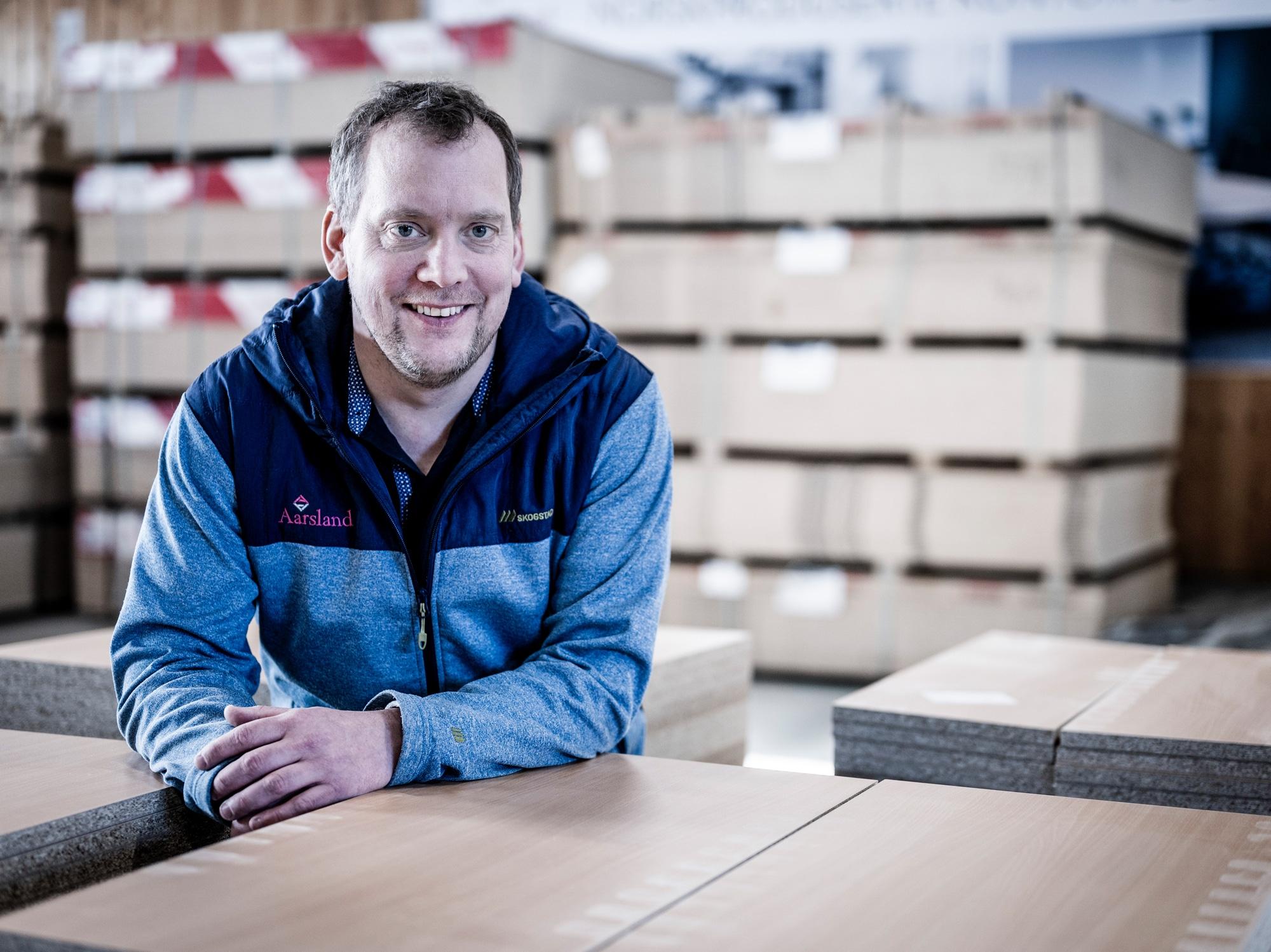 Aarsland møbelfabrikk daglig leder Erik Jonas Aarsland