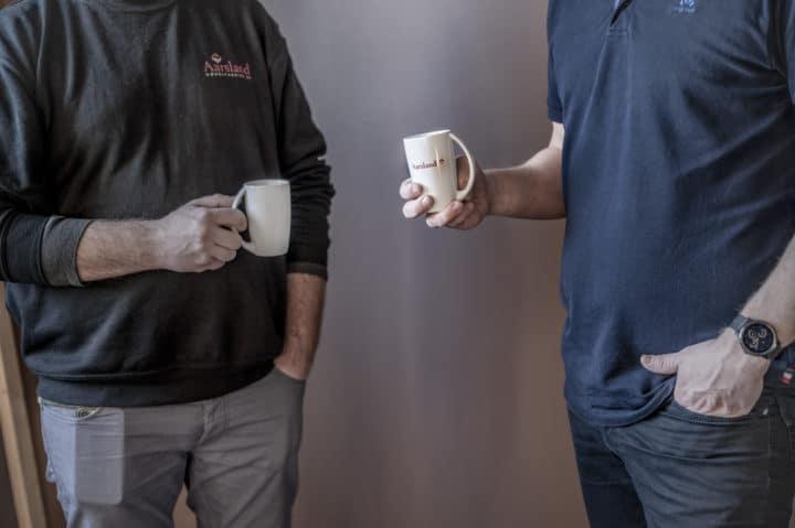 Aarsland møbelfabrikk kaffepause