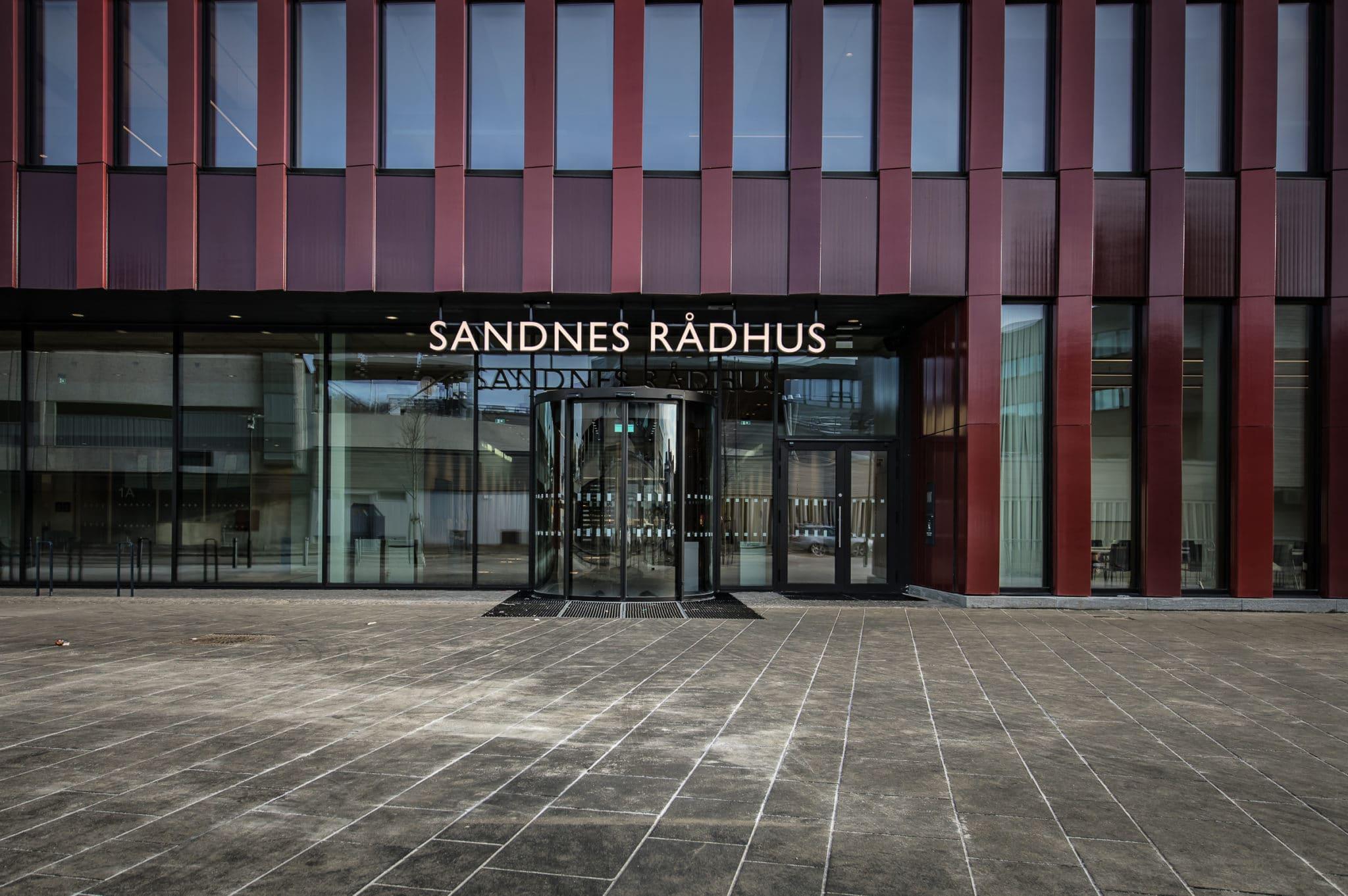 Sandnes Rådhus. Aarsland. Foto: Sandnes Rådhus.